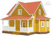 Фото: дом 6х7 с эркером 2х4 и террасой 2х7, брусовая мансарда