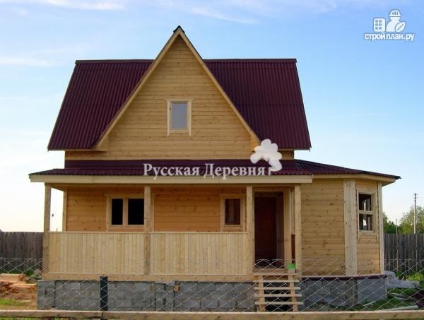 Фото 4: проект дом 6х7 с эркером 2х4 и террасой 2х7, брусовая мансарда