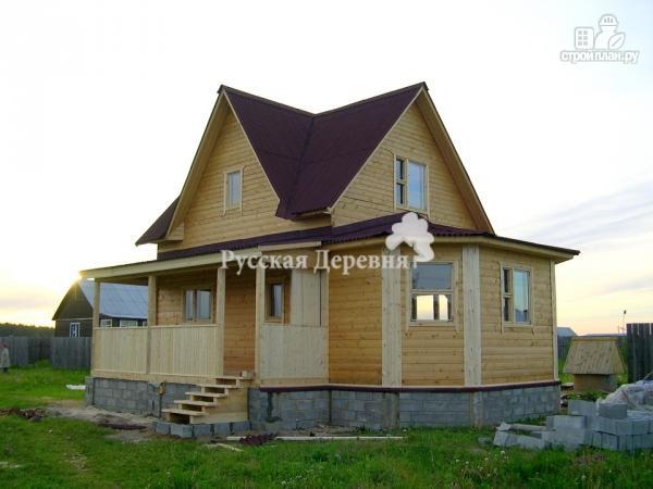 Фото 5: проект дом 6х7 с эркером 2х4 и террасой 2х7, брусовая мансарда