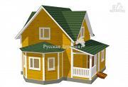 Фото: четырехфронтонный эркерный дом с крылечком