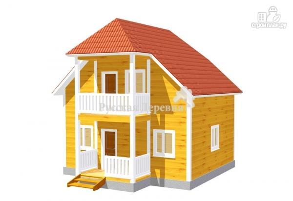 Фото: проект дом 7х6 с крыльцом 3х1,5 и балконом