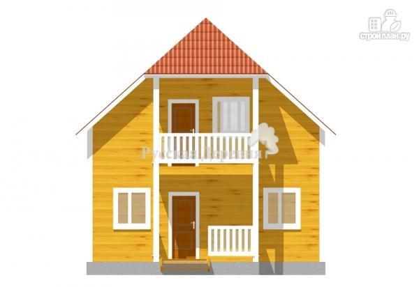 Фото 2: проект дом 7х6 с крыльцом 3х1,5 и балконом