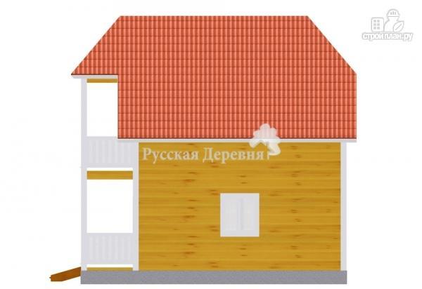 Фото 4: проект дом 7х6 с крыльцом 3х1,5 и балконом