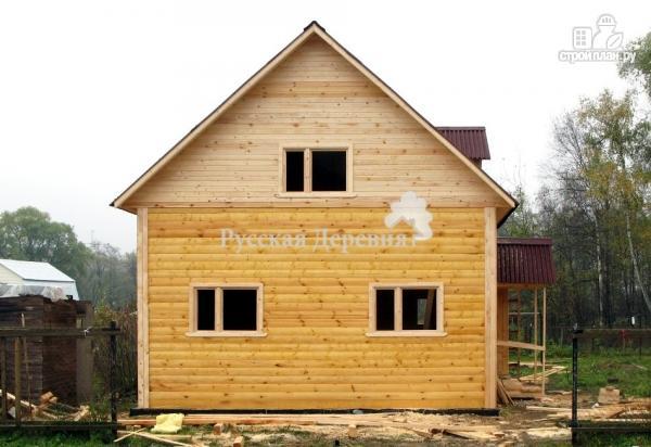"""Фото 4: проект дом с """"кукушкой"""", стены мансарды подняты на 1 метр из бруса"""