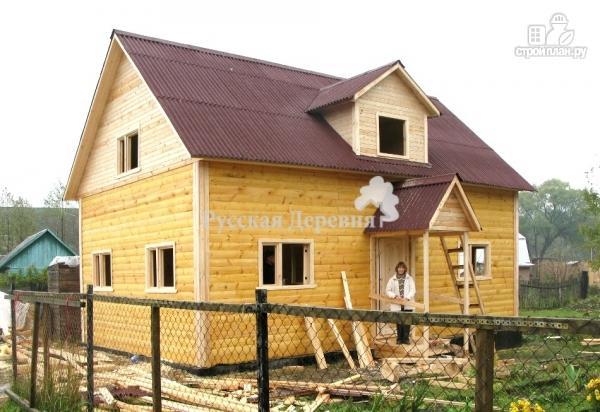 """Фото 5: проект дом с """"кукушкой"""", стены мансарды подняты на 1 метр из бруса"""