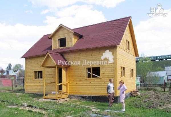 """Фото 3: проект дом с """"кукушкой"""", стены мансарды подняты на 1 метр из бруса"""