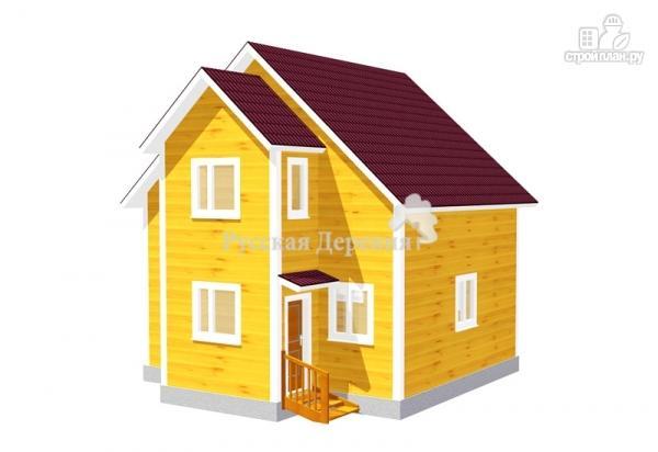 Фото: проект дом 7х6 из бруса 100х150 мм естественной влажности