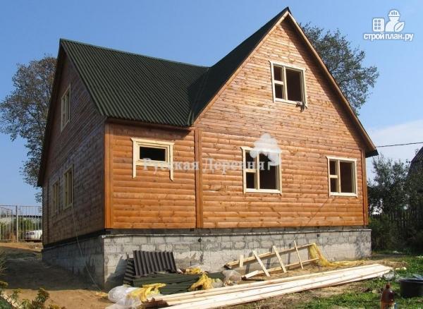 Фото 4: проект четырехкомнатный дом 6х8 с брусовой мансардой