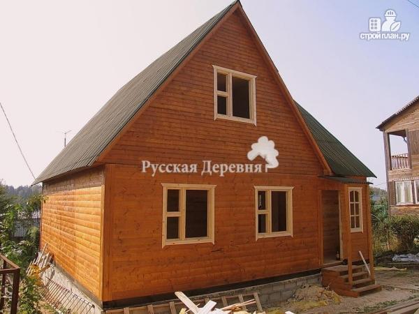 Фото 3: проект четырехкомнатный дом 6х8 с брусовой мансардой