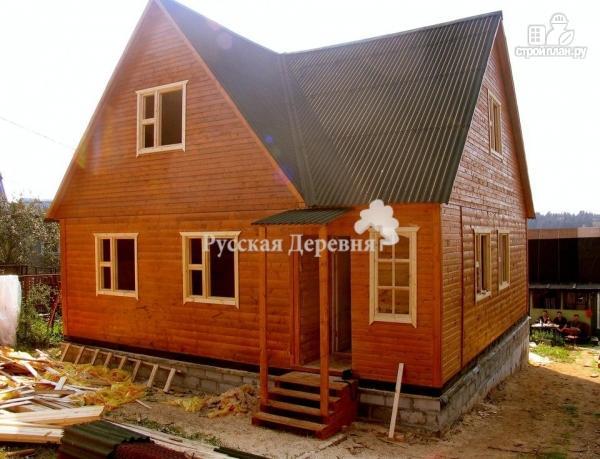 Фото 2: проект четырехкомнатный дом 6х8 с брусовой мансардой
