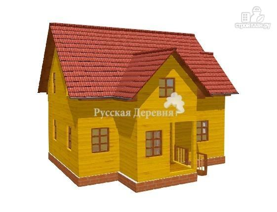 Фото: проект дом 8,5х5 с крыльцом 1х1,5 и сенями 2,х1,5