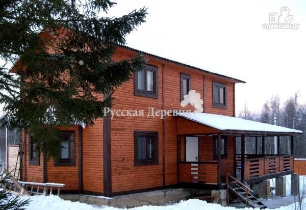 Фото 2: проект дом двухэтажный с террасой и эркером
