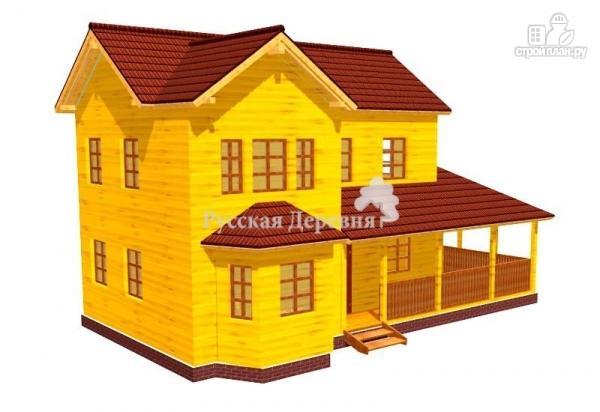 Фото: проект дом двухэтажный с террасой и эркером