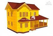 Проект дом двухэтажный с террасой и эркером