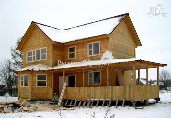 Фото 4: проект дом двухэтажный с террасой и эркером