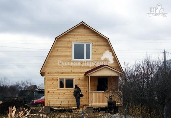 Фото 3: проект дачный домик 5х4 с крыльцом 2,5х1, мансардный, двухкомнатный