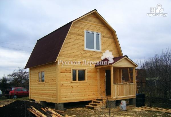 Фото 2: проект дачный домик 5х4 с крыльцом 2,5х1, мансардный, двухкомнатный