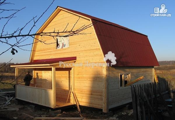 Фото 6: проект дачный домик 5х4 с крыльцом 2,5х1, мансардный, двухкомнатный