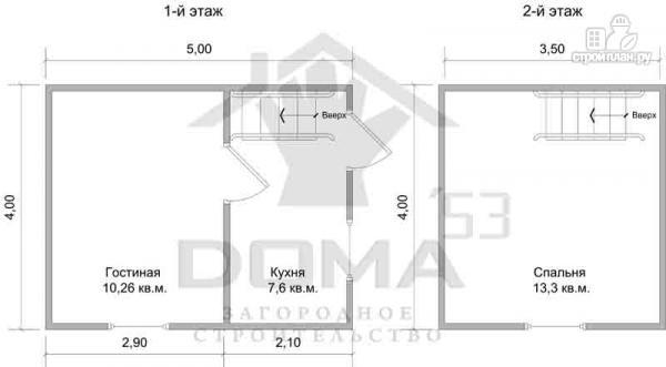 Фото 6: проект дом из бруса 4х5, без крыльца
