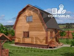 Дом из бруса 4х5, без крыльца, проект Кашин
