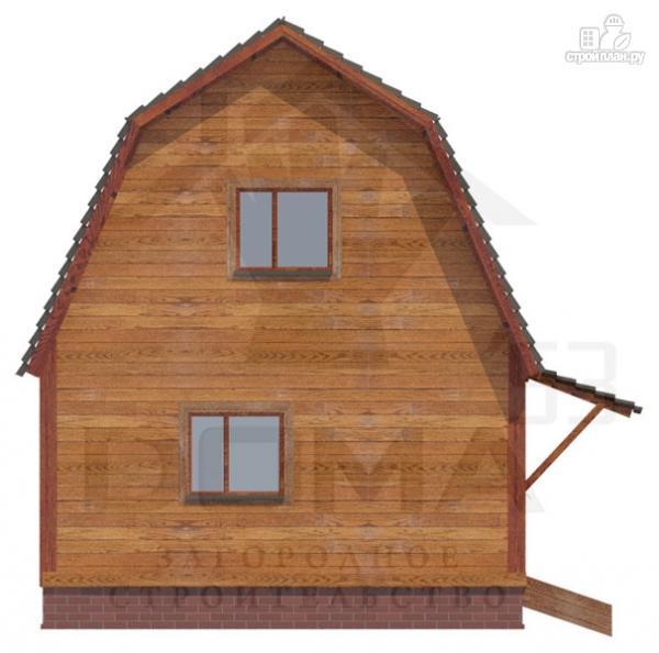 Фото 2: проект дом из бруса 4х5, без крыльца
