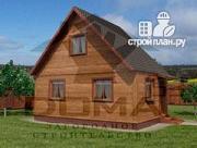 Фото: деревянный дом с мансардной спальной