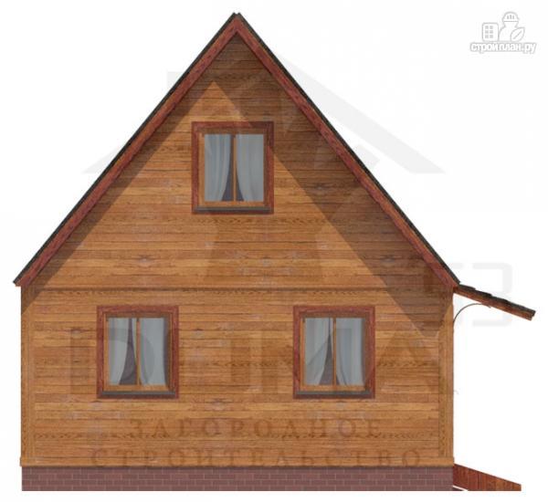 Фото 2: проект деревянный дом с мансардной спальной