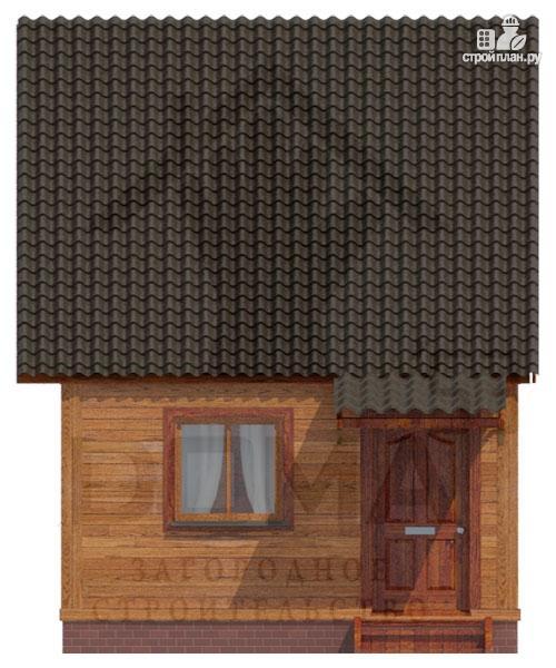 Фото 3: проект деревянный дом с мансардной спальной