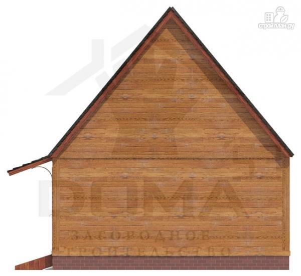 Фото 4: проект деревянный дом с мансардной спальной