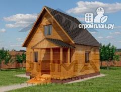 Фото: проект уютный дачный домик 4х5