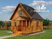 Проект уютный дачный домик 4х5