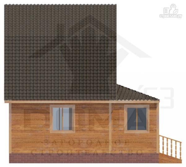 Фото 5: проект брусовой дом с верандой