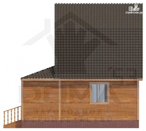 Фото 3: проект брусовой дом с верандой