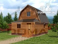 Фото: проект брусовой дом с верандой
