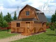 Проект брусовой дом с верандой