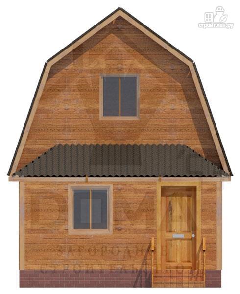 Фото 2: проект брусовой дом с верандой