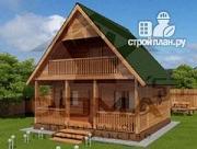 Фото: просторный дачный дом с балконом и террасой