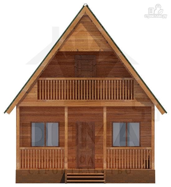 Фото 2: проект просторный дачный дом с балконом и террасой
