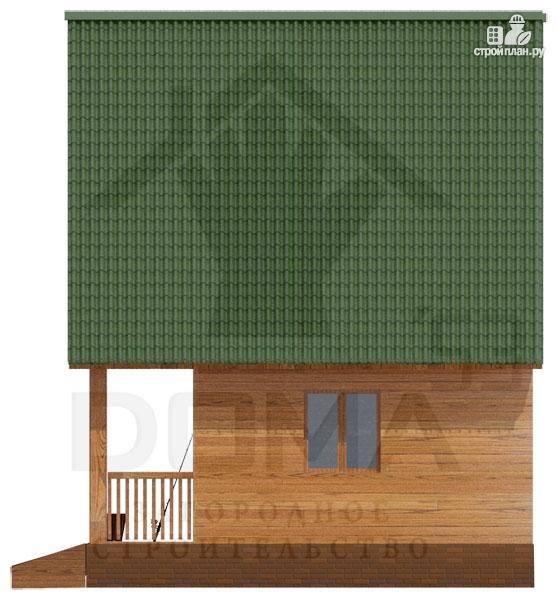 Фото 3: проект просторный дачный дом с балконом и террасой
