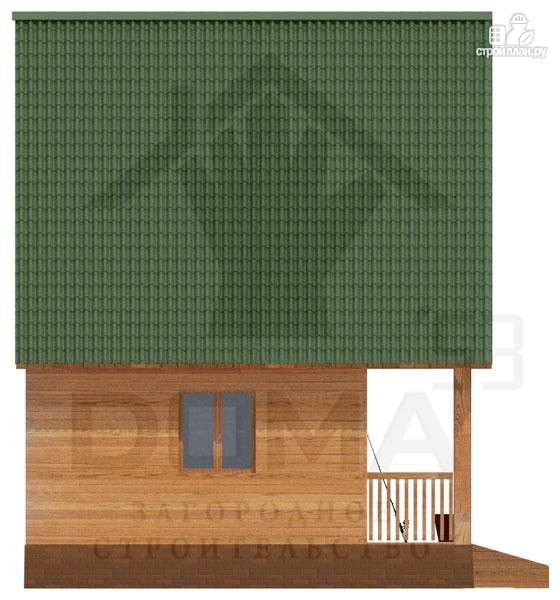 Фото 5: проект просторный дачный дом с балконом и террасой