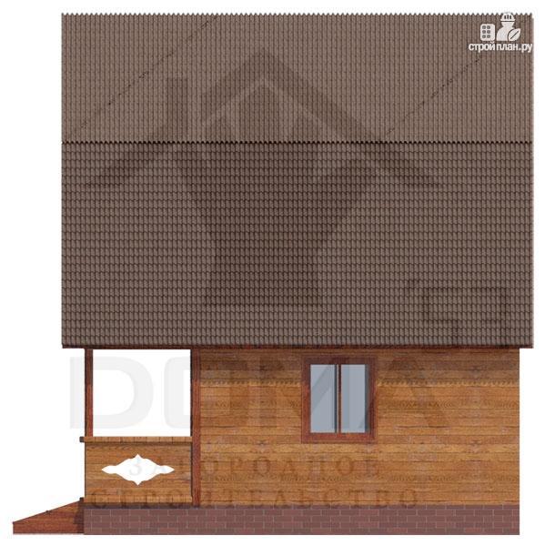 Фото 3: проект дачный дом с балконом и террасой