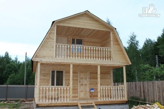 Фото 7: проект дачный дом с балконом и террасой