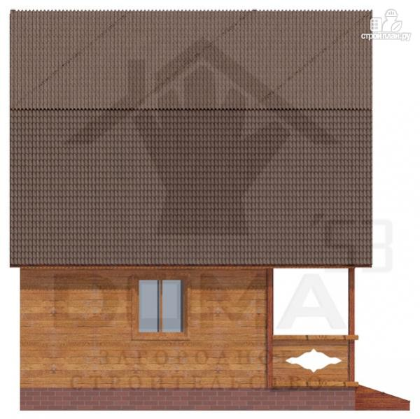Фото 5: проект дачный дом с балконом и террасой