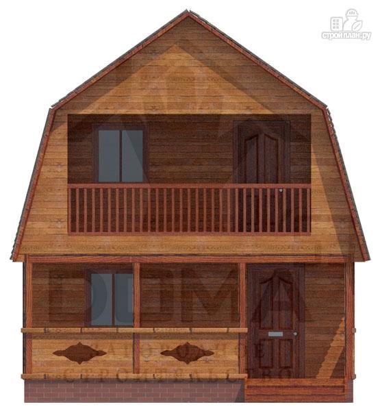 Фото 2: проект дачный дом с балконом и террасой