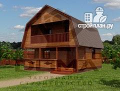 Фото: проект дачный дом с балконом и террасой