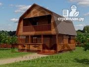 Фото: дачный дом с балконом и террасой