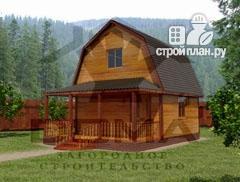 Фото: проект дом из профилированного бруса с террасой