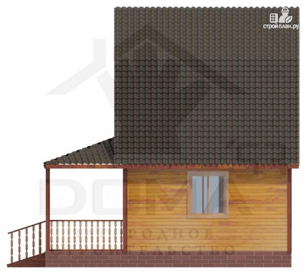 Фото 3: проект дом из профилированного бруса с террасой