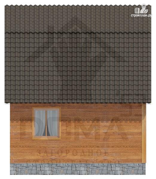 Фото 6: проект деревянный дом с мансардой и верандой