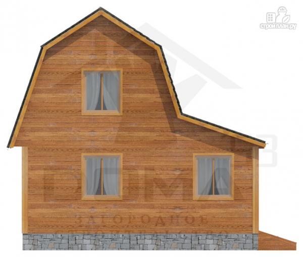 Фото 3: проект деревянный дом с мансардой и верандой